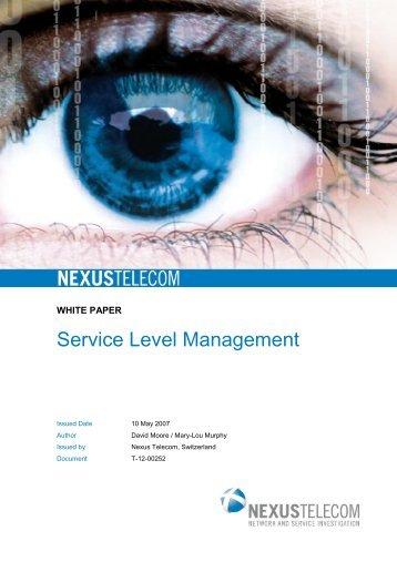 Service Level Management - Nexus Telecom