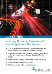 NexusVERIFIER Product Brochure (PDF) - Nexus Telecom