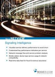NexusNETVIEW Product Brochure (PDF) - Nexus Telecom