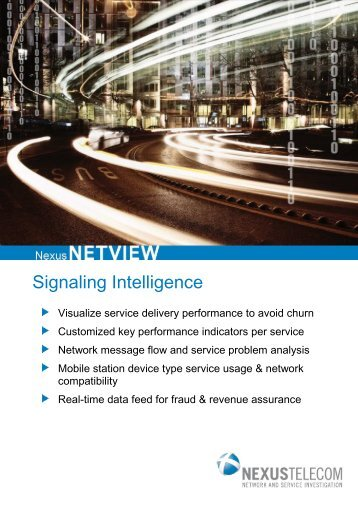 NexusNETVIEW Product Brochure (PDF) - Nexus Telecom