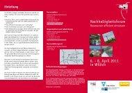 Nachhaltigkeitsforum 6. - 8. April 2011 in Willich - netz NRW