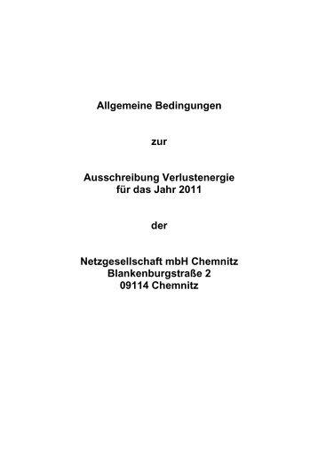 Ausschreibung Verlustenergie 2011 Teil 1 - Netzgesellschaft mbH ...