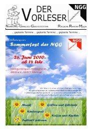 Vorleser Nr. 2 / 2010 - NGG Region Rhein-Main