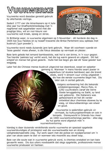 Afrikaans LEESSTUKKE 1 Vuurwerke.pdf - Think Online