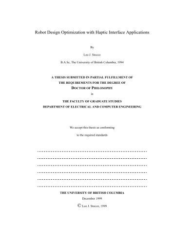 thesis electronic engineering