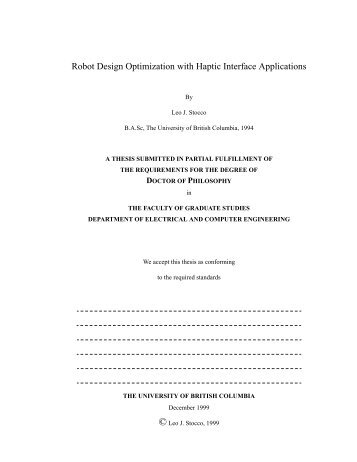 PhD Thesis - Electrical and Computer Engineering - University of ...
