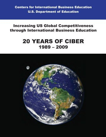 20 Year CIBER Report - CIBERweb - Michigan State University
