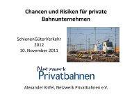 Präsentation - Netzwerk Privatbahnen