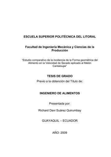 tesis de grado - DSpace en ESPOL - Escuela Superior Politécnica ...