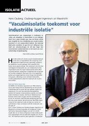 Vacuümisolatie toekomst voor industriële isolatie - Cauberg-Huygen ...
