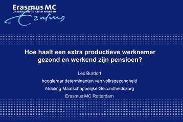 (EPO) werknemer gezond en werkend zijn pensioen?