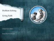 Problem Solving Living Faith - Grace Doctrine Church