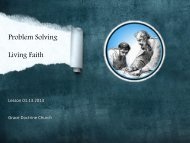 Problem Solving Living Faith - Grace Doctrine Church