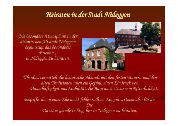 Präsentation Standesamt 2013 - Stadt Nideggen