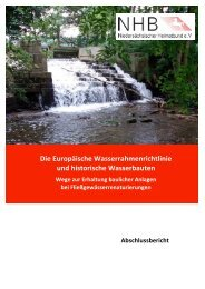 Die Europäische Wasserrahmenrichtlinie und historische ...