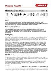 ADLER Aqua-Wischbeize 12081 ff Leírás - ADLER - Lacke