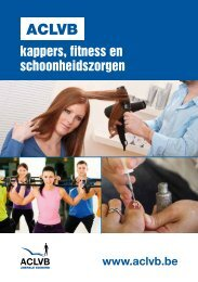 Sectorbrochure kappers, fitness en schoonheid (PC 314) - aclvb
