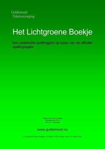 Het Lichtgroene Boekje digitaal versie 04 11 04 - Xs4all