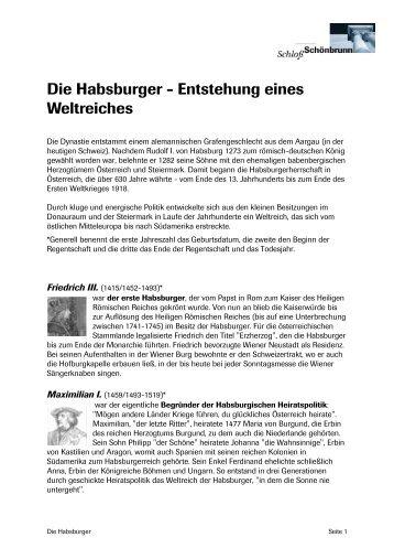 Die Habsburger J Entstehung eines Weltreiches - Hofburg   Wien