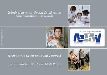 Onthaalbrochure editie 2010 - Brochure d'accueil ... - BERT Uitgeverij
