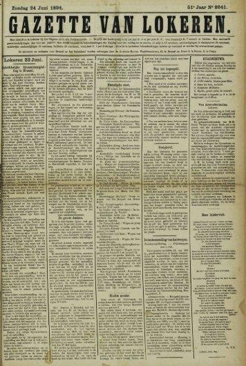 Zondag 24 Juni 1894. 51- Jaar N« 2641. Lokeren 23 Juni.