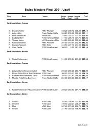 Swiss Masters Final 2001, Uzwil