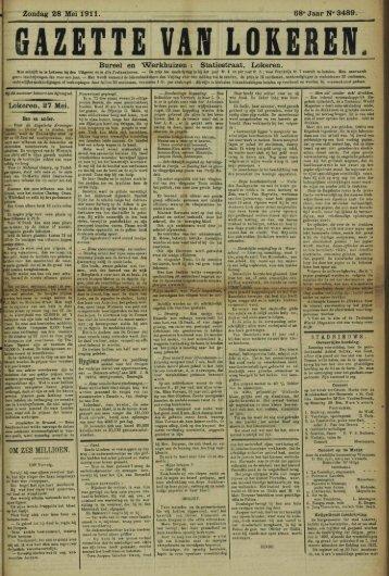 Zondag 28 Mei 1911. 68° Jaar N» 3489. Bureel en Werkhuizen ...