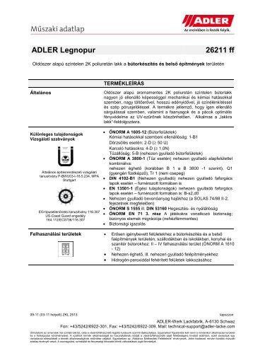 ADLER Legnopur 26211 ff - ADLER - Lacke
