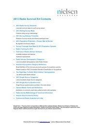 2013 Radio Survival Kit Contents - Nielsen