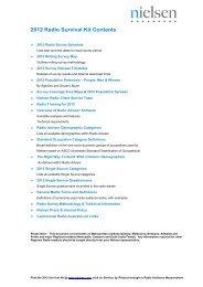 2012 Radio Survival Kit Contents - Nielsen
