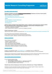 Market Research Consulting Programme - Nielsen