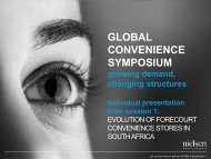 Evolution of Forecourt Convenience Stores in South Africa - Nielsen