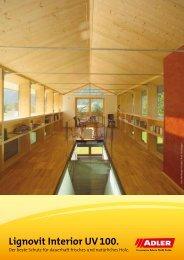 Lignovit Interior UV 100 für den Innenbereich - ADLER - Lacke
