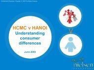 HCMC v Hanoi: Regional Consumer Differences Study - Nielsen