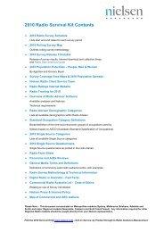 2010 Radio Ratings Survival Kit - Nielsen