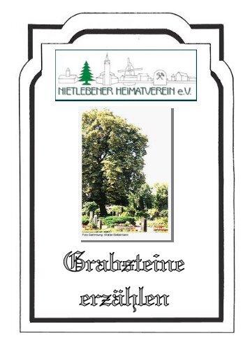 Granauer Friedhof - Nietlebener Heimatverein eV