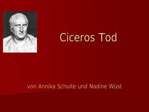 Ciceros Tod