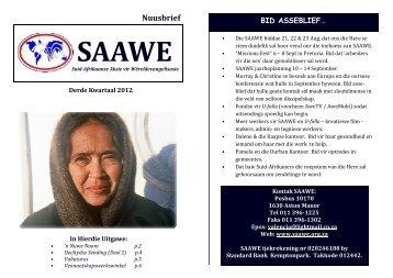 SAAWE NUUS Derde Kwartaal 2012 - Saawe.org.za