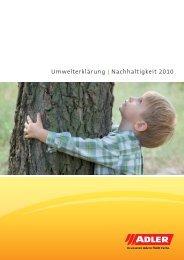 ADLER Nachhaltigkeitsbericht 2010 - ADLER - Lacke