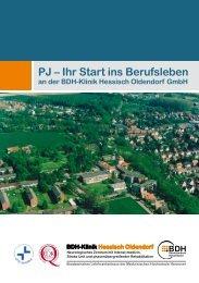 PJ – Ihr Start ins Berufsleben an der BDH-Klinik Hessisch Oldendorf ...