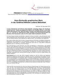 Hans Burkardts graphisches Werk in der Gottfried Wilhelm Leibniz ...