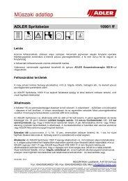 ADLER Spritzbeize 10901 ff - ADLER - Lacke