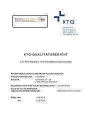 KTQ-Qualitätsbericht (PDF) - BDH Klinik Hessisch-Oldendorf