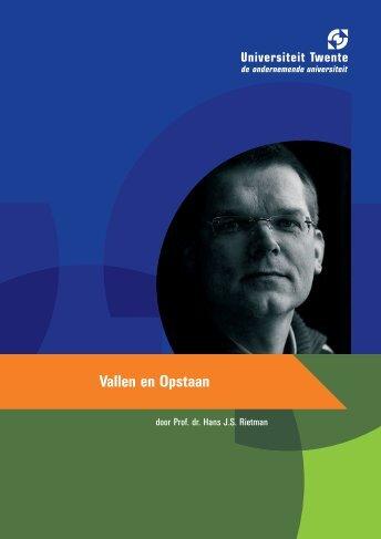070509 Oratieboekje Rietman v2 - Universiteit Twente