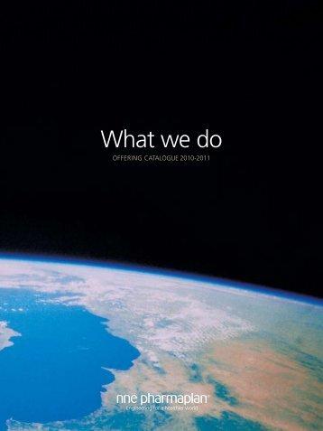 What we do - NNE Pharmaplan