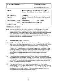 HOUSING COMMITTEE Agenda Item 70