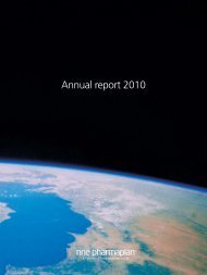 annual report 2010 - NNE Pharmaplan