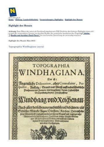 Seite als PDF speichern - Das Land Niederösterreich