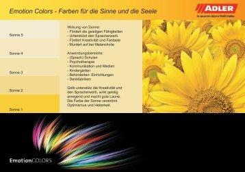 ADLER Emotion Colors Farbkarte - ADLER - Lacke
