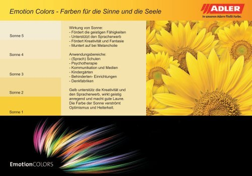 ADLER Emotion Colors Farbkarte - ADLER - Lacke